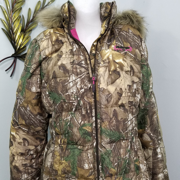dbe899e6156db Realtree Jackets & Coats | Pink Camo Winter Hunting Puffer Jacket L ...